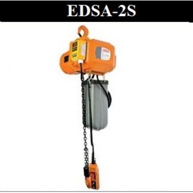 EDSA Inverter electric chain hoist - hook suspension type  (Variable Speed - Inverter Control) - 2 speed hoist motion - 2T x 3M